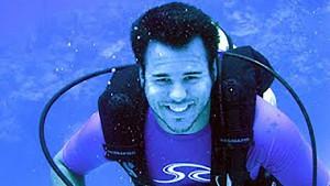 underwater upper body photo of Jeff Barr scuba diving